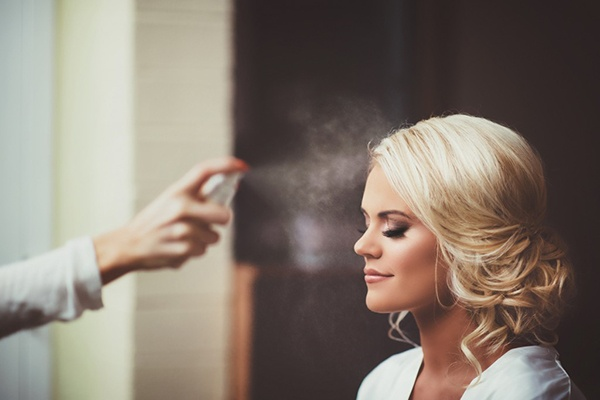 Airbrushmakeup for bride in playa del carmen
