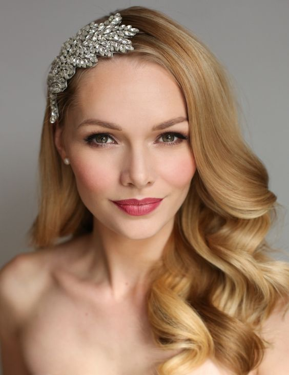 Makeup and hairstyle for brides