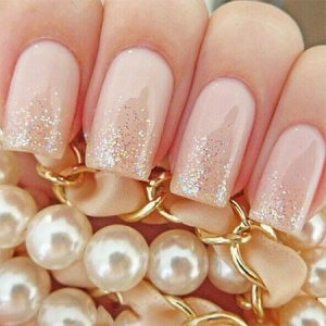 Manicure for Bride on the beach