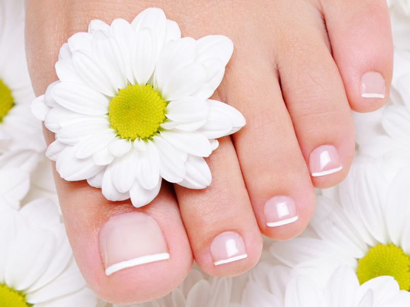 Pedicure for bride