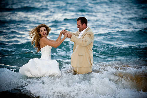 Airbrush makeup for trash the dress