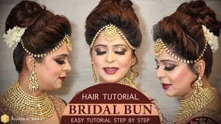 Easy Bridal Bun Hairstyle Tutorial Step By Step Bridal